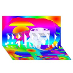 Abstract Color Dream #1 Mom 3d Greeting Cards (8x4)