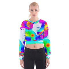 Abstract Color Dream Women s Cropped Sweatshirt
