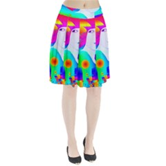 Abstract Color Dream Pleated Skirt