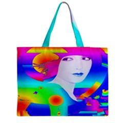 Abstract Color Dream Medium Zipper Tote Bag