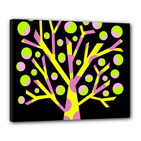 Simple colorful tree Canvas 20  x 16
