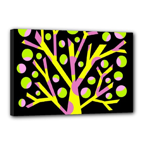 Simple colorful tree Canvas 18  x 12