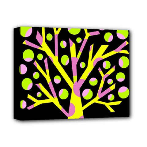 Simple colorful tree Deluxe Canvas 14  x 11
