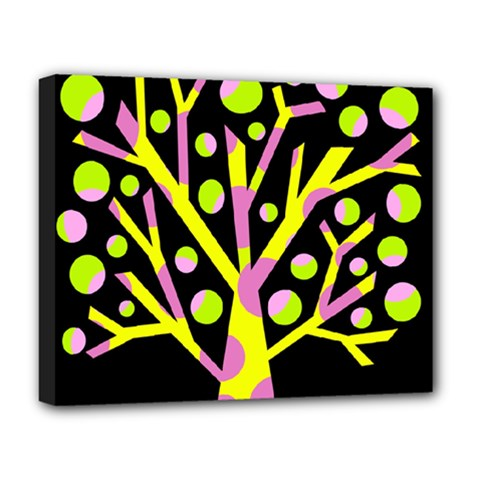 Simple colorful tree Deluxe Canvas 20  x 16