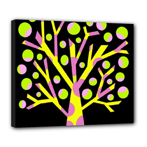 Simple colorful tree Deluxe Canvas 24  x 20