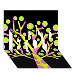Simple colorful tree BOY 3D Greeting Card (7x5)
