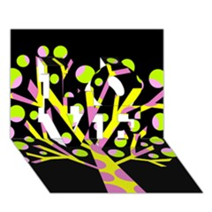 Simple colorful tree LOVE 3D Greeting Card (7x5)