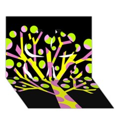Simple colorful tree Clover 3D Greeting Card (7x5)