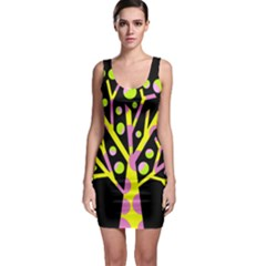 Simple colorful tree Sleeveless Bodycon Dress