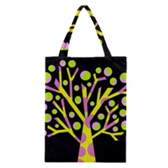 Simple colorful tree Classic Tote Bag