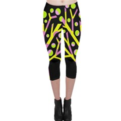 Simple colorful tree Capri Leggings