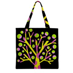Simple colorful tree Zipper Grocery Tote Bag