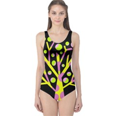 Simple colorful tree One Piece Swimsuit