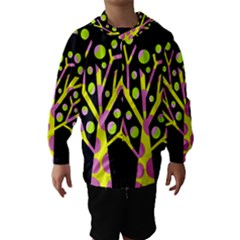 Simple colorful tree Hooded Wind Breaker (Kids)