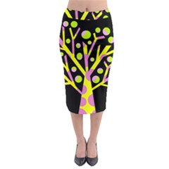 Simple colorful tree Midi Pencil Skirt