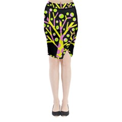 Simple Colorful Tree Midi Wrap Pencil Skirt