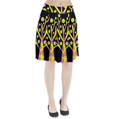 Simple Colorful Tree Pleated Skirt