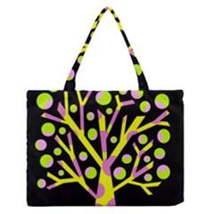 Simple colorful tree Medium Zipper Tote Bag