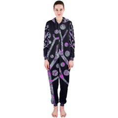 Purple magical tree Hooded Jumpsuit (Ladies)