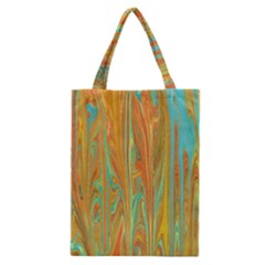 Beautiful Abstract in Orange, Aqua, Gold Classic Tote Bag