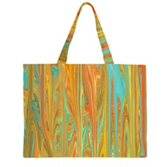 Beautiful Abstract in Orange, Aqua, Gold Large Tote Bag