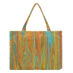 Beautiful Abstract In Orange, Aqua, Gold Medium Tote Bag