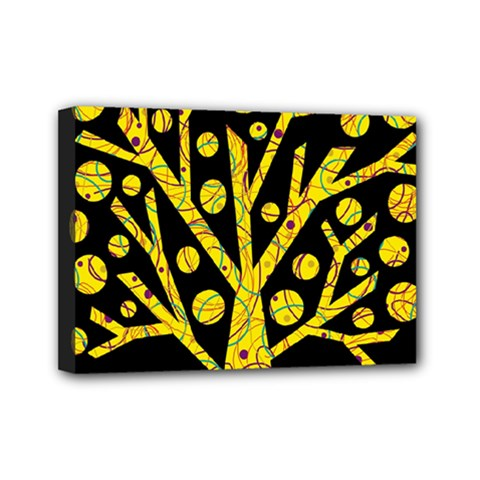 Yellow magical tree Mini Canvas 7  x 5