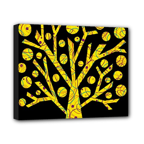 Yellow magical tree Canvas 10  x 8