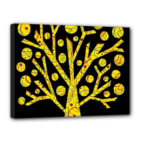 Yellow magical tree Canvas 16  x 12