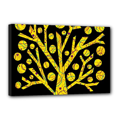 Yellow magical tree Canvas 18  x 12