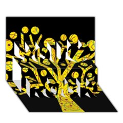 Yellow magical tree You Rock 3D Greeting Card (7x5)