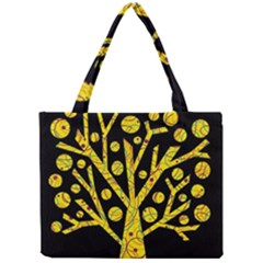 Yellow magical tree Mini Tote Bag