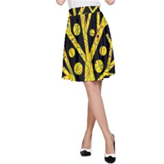 Yellow magical tree A-Line Skirt