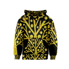 Yellow magical tree Kids  Pullover Hoodie