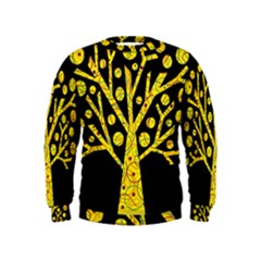 Yellow magical tree Kids  Sweatshirt