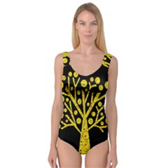 Yellow magical tree Princess Tank Leotard