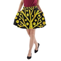 Yellow magical tree A-Line Pocket Skirt