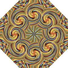 Gold Blue And Red Swirl Pattern Golf Umbrellas