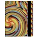 Gold Blue and Red Swirl Pattern Samsung Galaxy Tab 8.9  P7300 Flip Case View2
