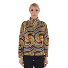Gold Blue And Red Swirl Pattern Winterwear