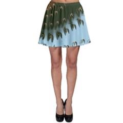 Sun Ray Swirl Design Skater Skirt