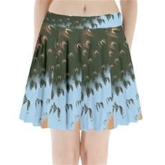 Sun Ray Swirl Design Pleated Mini Skirt
