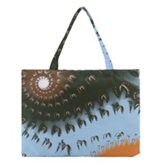 Sun Ray Swirl Design Medium Tote Bag