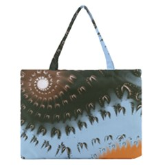 Sun-Ray Swirl Design Medium Zipper Tote Bag