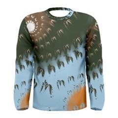 Sun Ray Swirl Design Men s Long Sleeve Tee