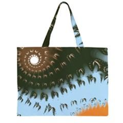Sun-Ray Swirl Design Large Tote Bag