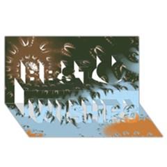 Sunraypil Best Wish 3D Greeting Card (8x4)