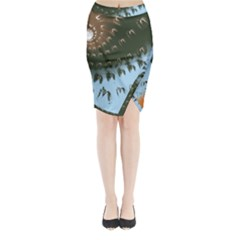 Sunraypil Midi Wrap Pencil Skirt