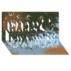 Sunraypil Happy Birthday 3D Greeting Card (8x4)