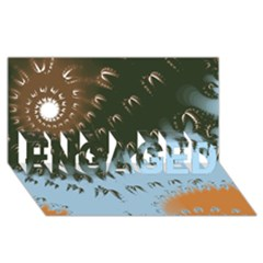 Sun-Ray Swirl Pattern ENGAGED 3D Greeting Card (8x4)
